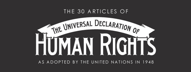 The Universal Declaration of Human Rights banner
